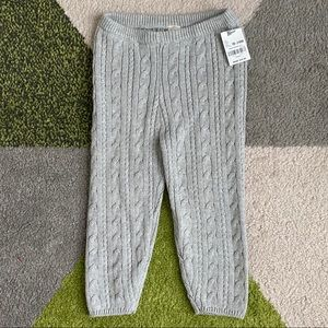 NWT Osh Kosh Cable knitted pants 18-24M Gray